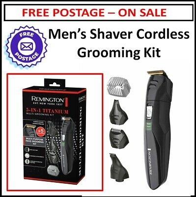 Cordless Beard Shaver Trimmer Hair Clipper Rechargeable Mens Hair Grooming Kit