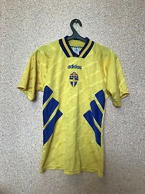 ff4ac93a38f Vintage Sweden National Team 1994 1996 Home Football Shirt Jersey Maglia  Adidas