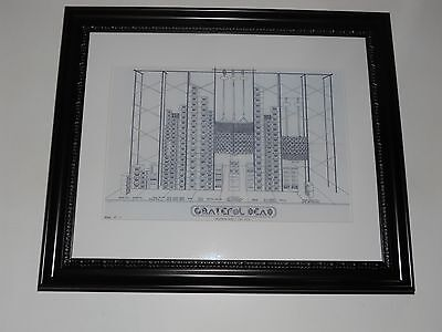 "Large Framed WALL OF SOUND Grateful Dead '74 Speaker Schematic Poster, 24"" x 20"""