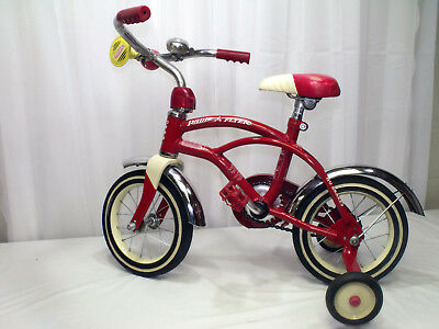 Radio Flyer Bike >> Rare Radio Flyer Classic Boy S Red White 12 Cruiser Bike With Training Wheels