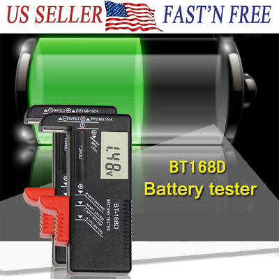 AA/AAA/C/D/9V Universal Cell Battery LCD Digital Battery Tester Battery Testers