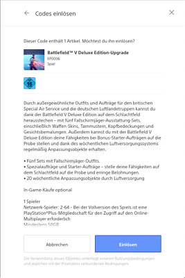 Battlefield™ V 5 - Deluxe Edition-Upgrade PS4 Playstation 4 Download Code