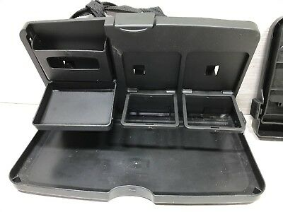 Universal Folding Seat Table Drink Food Stand Desk Cup Tray Holder Pair X2