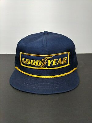 VINTAGE GOODYEAR SNAPBACK Trucker Hat Cap Swingster USA Made Patch ... 51fb2853bd87
