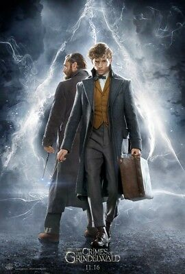 """Fantastic Beasts The Crimes of Grindelwald Fabric poster 20x13 / 36x24"""" Decor 01"""
