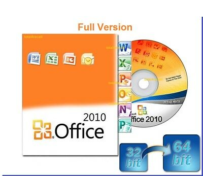 Office Professional 2010 32/64-bit DVD Full Version and License Key Word / Excel