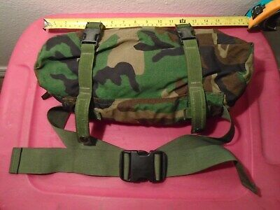 Genuine Usgi Us Military Bdu Camouflage Molle Ii Waist Pack Carry Bag Fanny Sack