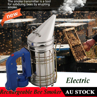 Bee Hive Smoker Stainless Steel Beekeeping Equipment   Bees Subduing Chargeable