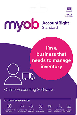 MYOB AccountRight Standard 12 Month Subscription - Email Code Only