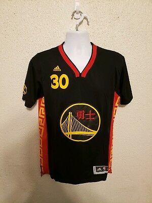 online retailer bed1f 769ca CHINESE NEW YEAR Golden State Warriors Stephen Curry 30 Black Jersey size M