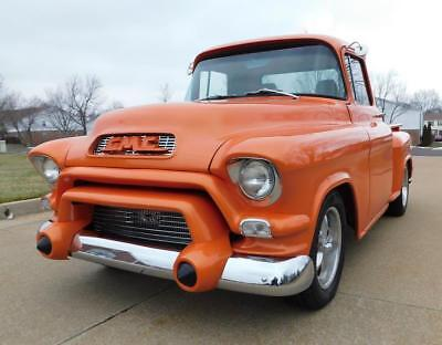 1955 100 Short Bed Step Side 1955 Gmc 100 Short Bed  Ls Fuel Injected 4 Speed Automatic Leather 4Whl Disc!
