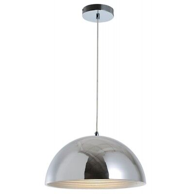"Paris Prix - Lampe Suspension Design ""mads"" 40cm Chrome"