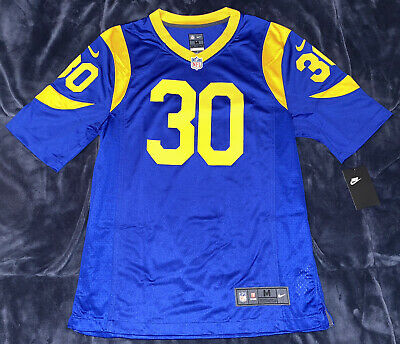 23921189d0a Todd Gurley Los Angeles Rams Blue/Yellow Throwback Game Jersey RARE Super  Bowl
