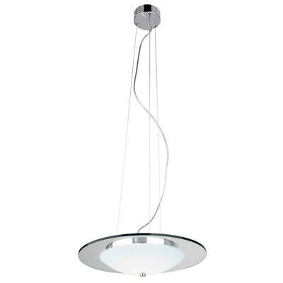 "Paris Prix - Lampe Suspension Moderne Led ""minnesota"" 45cm Chrome"