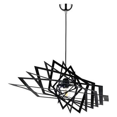 "Paris Prix - Lampe Suspension Design ""planet Iii"" 61cm Noir"