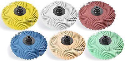 JoolTool 3M Scotch-Brite 6 Piece Deluxe Radial Bristle Brush Assembled with Hubs