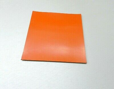 "6"" Square Silicone Rubber Sheet High Temp Solid Red/Orange Commercial 1/4"" Thick"