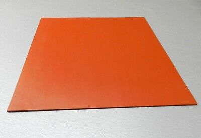 "Silicone Rubber Sheet High Temp Solid Red/Orange Commercial Grade 14"" x14"" x1/8"""