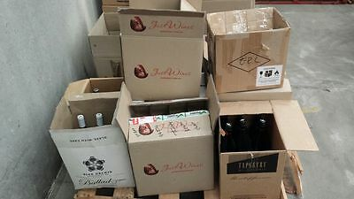 12 x Mystery White & Red Wine-Damaged-Wine Marks on Bottle & Label-Free shipping