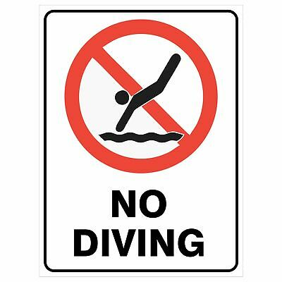 Pool Safety Signs -  NO DIVING