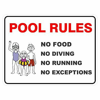 Pool Safety Signs -  POOL RULES