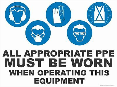 Appropriate Ppe - When Operating This Equipment - 5 Condition