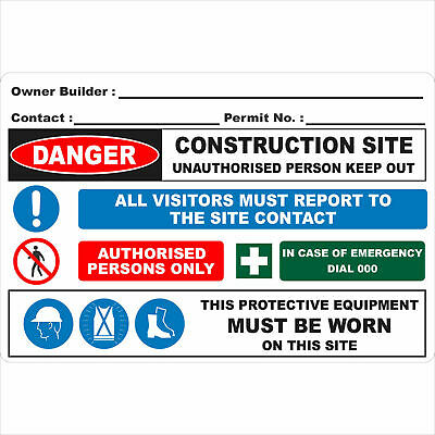 Construction Site Signs -  OWNER BUILDER SIGN