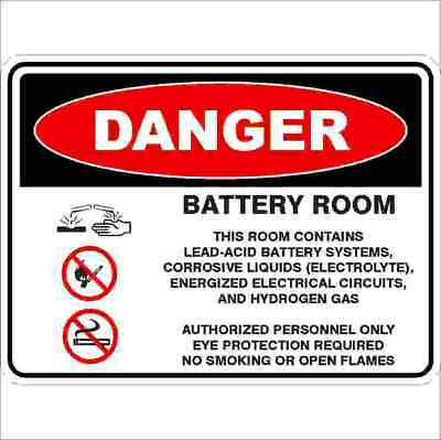 Danger Signs -  BATTERY ROOM - DETAILED