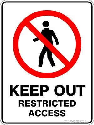 Prohibition Signs -  KEEP OUT RESTRICTED ACCESS