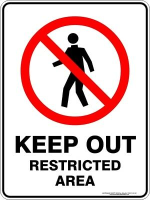 Prohibition Signs -  KEEP OUT RESTRICTED AREA