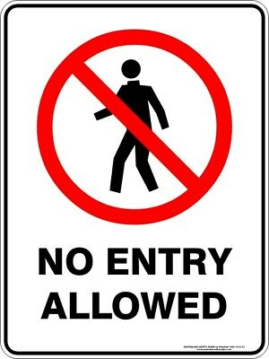 Prohibition Signs -  NO ENTRY ALLOWED