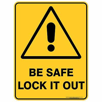 Warning Signs -  BE SAFE LOCK IT OUT