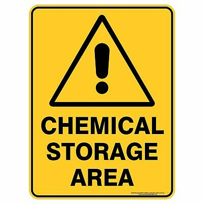 Warning Signs -  CHEMICAL STORAGE AREA