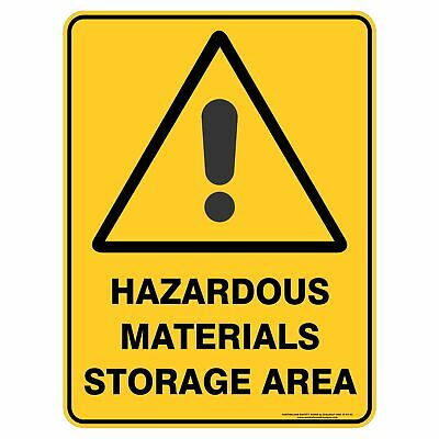 Warning Signs -  HAZARDOUS MATERIALS STORAGE AREA