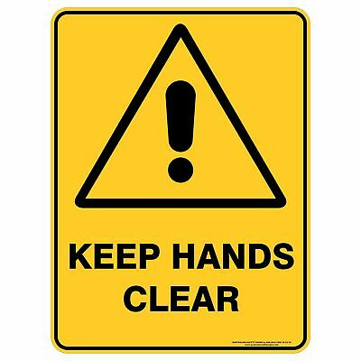 Warning Signs -  KEEP HANDS CLEAR