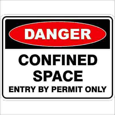 Danger Signs -  CONFINED SPACE ENTRY BY PERMIT ONLY