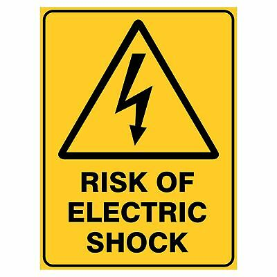 Warning Signs -  RISK OF ELECTRIC SHOCK