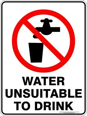 Prohibition Signs -  WATER UNSUITABLE TO DRINK