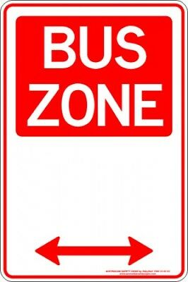 Parking Signs -  BUS ZONE SPAN ARROW