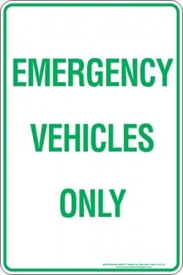 Parking Signs -  EMERGENCY VEHICLES ONLY
