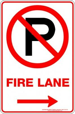 Parking Signs -  FIRE LANE P ARROW RIGHT