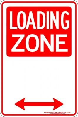 Parking Signs -  LOADING ZONE SPAN ARROW