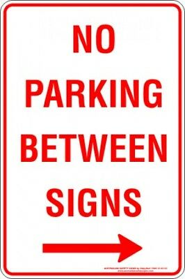 Parking Signs -  NO PARKING BETWEEN SIGNS ARROW RIGHT