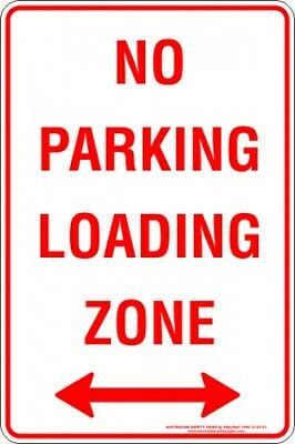 Parking Signs -  NO PARKING LOADING ZONE SPAN ARROW