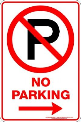 Parking Signs -  NO PARKING P ARROW RIGHT