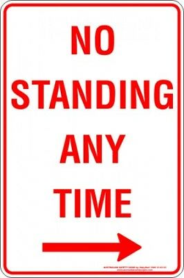 Parking Signs -  NO STANDING ANY TIME ARROW RIGHT
