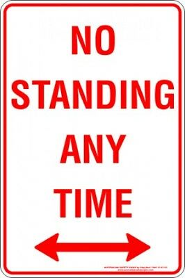 Parking Signs -  NO STANDING ANY TIME SPAN ARROW