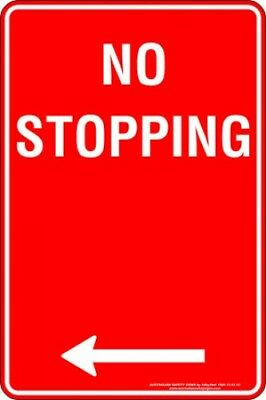 Parking Signs -  NO STOPPING ARROW LEFT