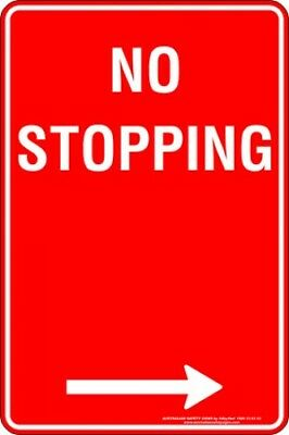 Parking Signs -  NO STOPPING ARROW RIGHT