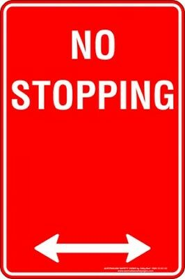 Parking Signs -  NO STOPPING SPAN ARROW